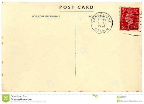 Vintage British postcard stock photo. Image of empty ...