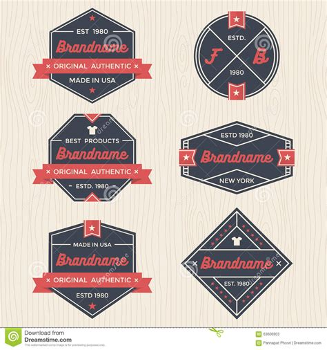 ribbon badges vector vector illustration cartoondealer com 76476852