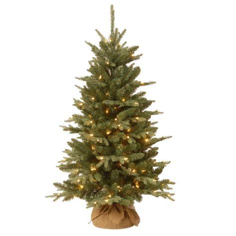 national tree company 4 ft burlap artificial christmas