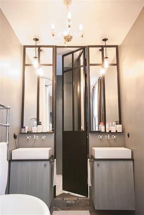 rigail salle de bain vue triptyque porte de et miroirs en m 233 tal zinc loft atelier et salle de