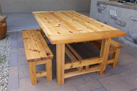 rustic outdoor table     wood whisperer