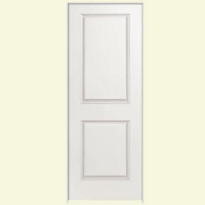 home depot solid door masonite smooth 2 panel square hollow primed