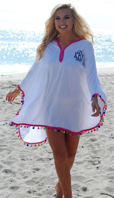 personalized pom pom swim cover  clothes monogram outfit fashion