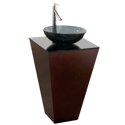 how to attach a pedestal sink to the wall 20 quot esprit custom bathroom pedestal vanity set by wyndham