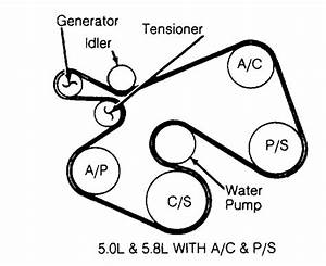 1994 Ford E-series Club Wagon 5 0  5 8l Serpentine Belt Diagram
