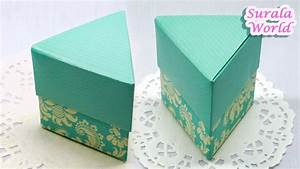 Origami - Triangle Box  U0026 Lid  Triangular Gift Box  How To Make A Paper Box