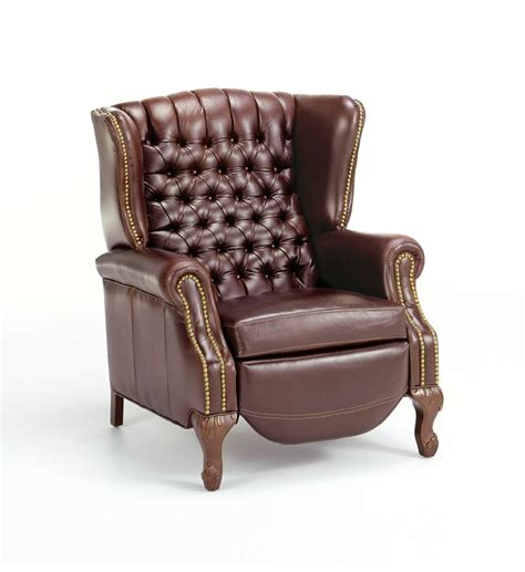 80 leather recliner chair with tufted back armchairs