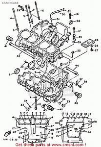 Yamaha Fj1200 1986 Usa Crankcase