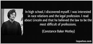 In high school,... Legal Professional Quotes