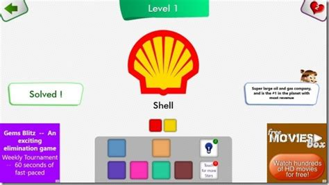 guess color windows 8 quiz app to guess the color of popular logos