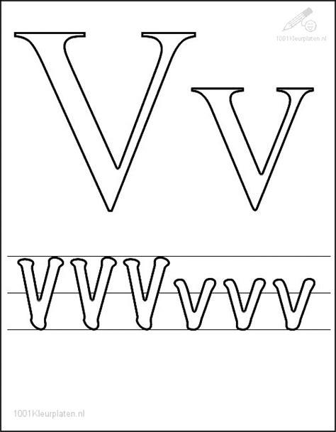 Kleurplaat V by Kleurplaat Letter V