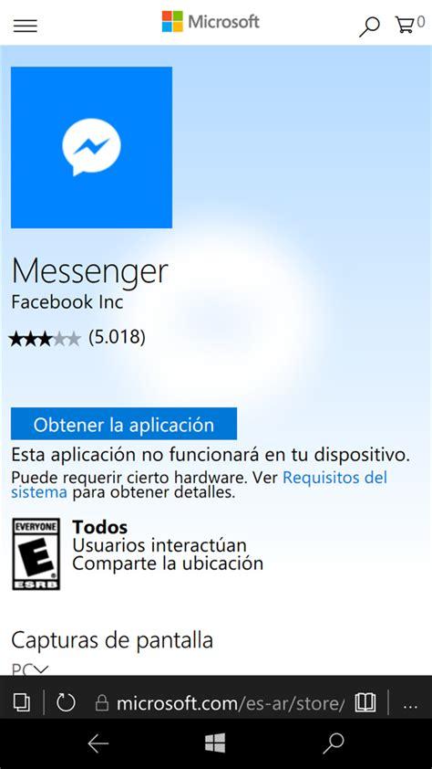 lumia 640 no puedo instalar messenger microsoft community