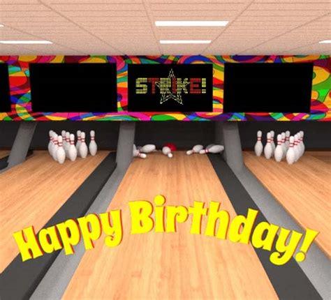 ten pin birthday strike  happy birthday ecards greeting cards