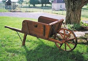 Large Premium Wheelbarrow by Dutchcrafters Amish Furniture