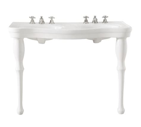 Parisian Pedestal Double Sink Console Pottery Barn