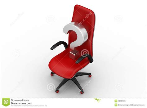 une chaise vide avec le point d interrogation illustration stock image 42491935