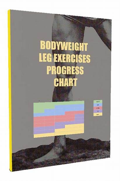Bodyweight Leg Exercises Chart Progress Hardest Muscle