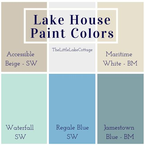 lake house paint colors the lake cottage