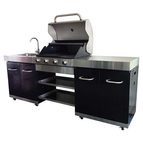 cuisine plancha cuisine extérieure 1 plancha 2 grilles summer ki002n cook in garden bricozor