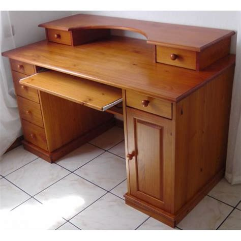 bureau multimédia 39 authentic style 39 pin massif achat et