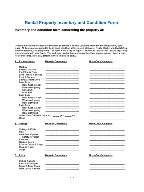 inventory checklist template   templates