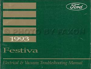1993 Ford Festiva Factory Foldout Wiring Diagram Original