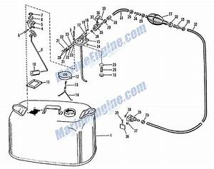 evinrude fuel tank group parts for 1964 18hp 18403 With diagram evinrude gas tank parts johnson outboard fuel pump diagram