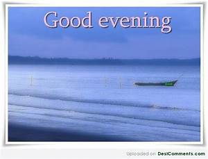 Good Evening Sea View Graphic For Share On Facebook