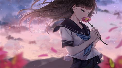 Download 1920x1080 Anime Girl Teary Eyes Sad Expression