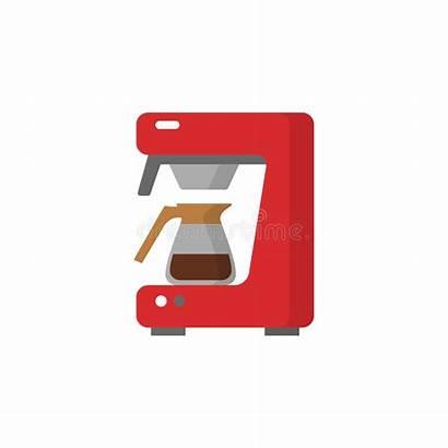 Machine Coffee Icon Koffie Symbool Moderne Stockillustratie