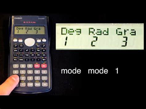rekenmachine instellen voor het examen youtube