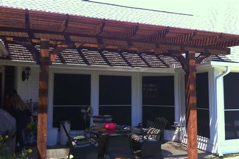 small patio benefits from new arbor shade in mckinney