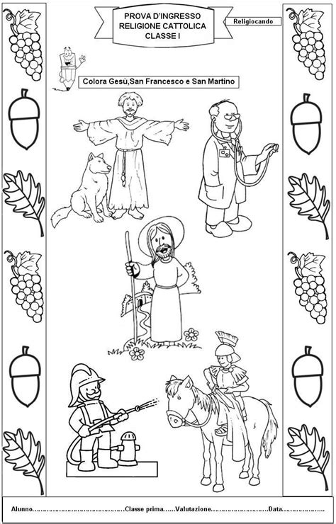 Prove D Ingresso Classe Prima Prova Di Ingresso Di Religione Cattolica Per La Classe