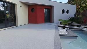 Moquette Exterieur Grise : moquette de pierre revetement terrasse resine 3d ~ Edinachiropracticcenter.com Idées de Décoration