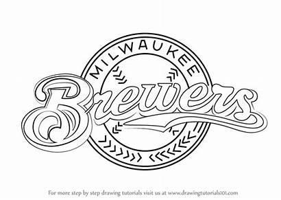 Brewers Milwaukee Draw Drawing Mlb Brewer Step