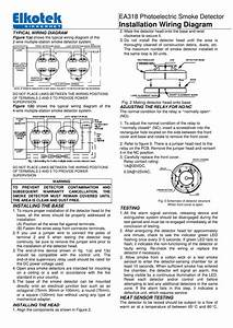 Installation Wiring Diagram Ea318 Photoelectric Smoke