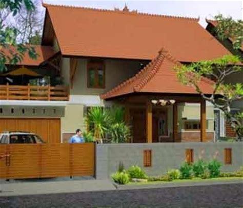 contoh tampilan desain rumah etnik jawa blog interior