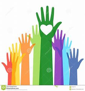 People, Colorful, Voting, Raised, Hand, Stock, Vector