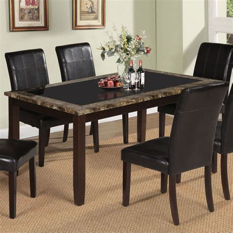 marble glass dining table rolle dining table with tempered black glass in faux