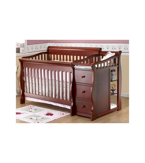 4 in one crib sorelle tuscany 4 in 1 convertible crib combo in cherry
