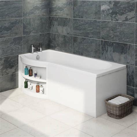 Bath Panel Cupboard by Myspace Water Saving P Shape Shower Bath Left With