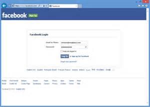 Facebook Homepage Login Page