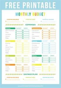 Free Printable Worksheet Budget Sheet