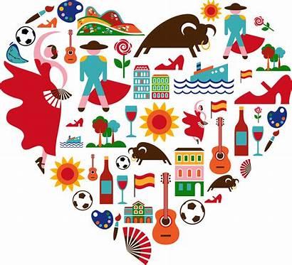 Spanish Clipart Culture Collage Heart Transparent Cartoon