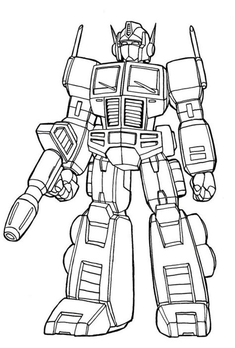 optimus prime coloring pages movies  tv show coloring