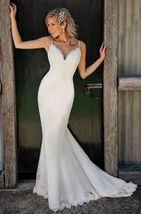 dressy dresses for weddings spaghetti straps v neck lace mermaid wedding dress dresses