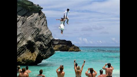 cliff jumping in bermuda pelletier wedding 2013 youtube