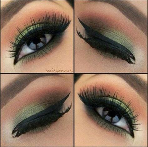 top  simple smokey eye makeup tutorials  green eyes