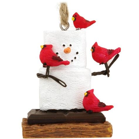 midwest cbk s mores with cardinals christmas ornament