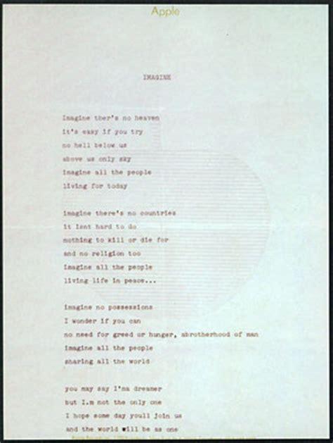 Testo Imagine Traduzione by Antiwar Songs Aws Imagine